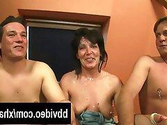 Blowjob, Facial, German, MILF, Threesome