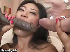 Asian, Group Sex, Hairy, Hardcore, Threesome