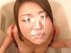 Asian, Blowjob, Cumshot, Facial, Japanese