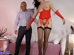 Creampie, MILF, Stockings