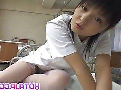 Asian, Japanese, Lingerie, Masturbation, Nurse