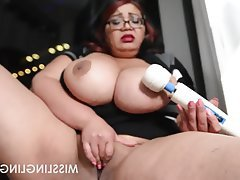 Asian, BBW, Big Boobs, Masturbation