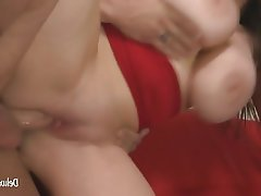 Blowjob, Brunette, BBW, Cumshot, Big Boobs