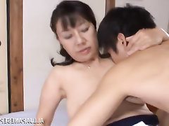 Asian, Big Tits, Blowjob, Mature