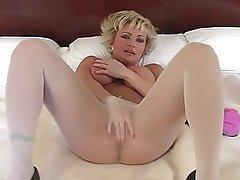 Blonde, Foot Fetish, Mature, Pantyhose, Stockings