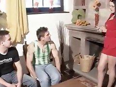 Blowjob, Cumshot, German, MILF, Threesome