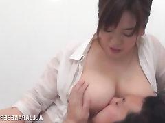 Asian, BBW, Big Tits, Cumshot