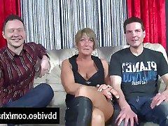 Blowjob, German, Hardcore, MILF, Threesome